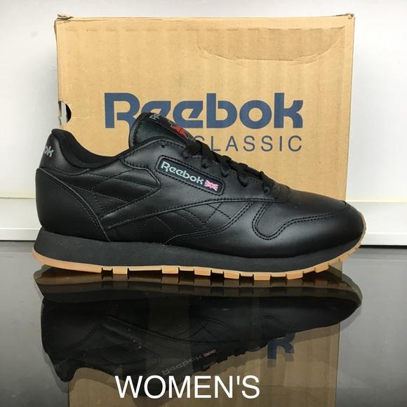 24a43939df1a9 Reebok Black Gum Classic Leather